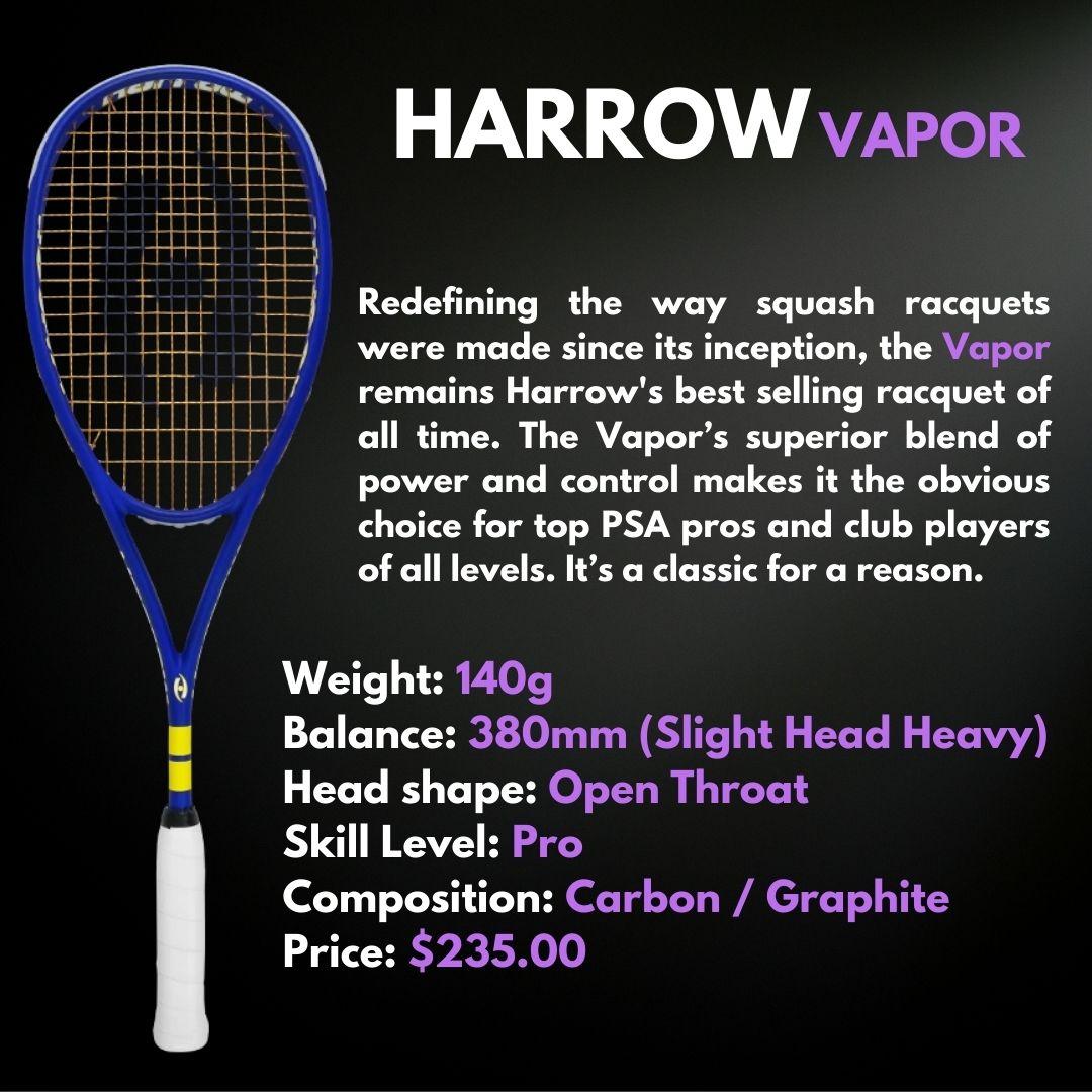 Harrow Squash Racquet Vapor